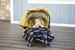 NFL Baltimore Ravens The Whole Caboodle 5PC set - Baby Car Seat Canopy with matching accessories
