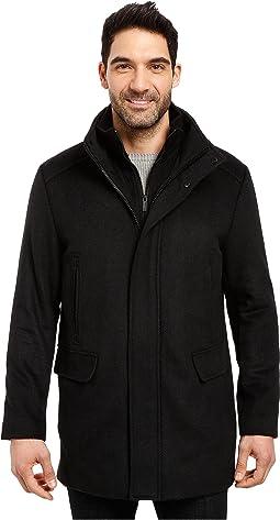 Calvin Klein - Wool Stadium Jacket in Small Herringbone