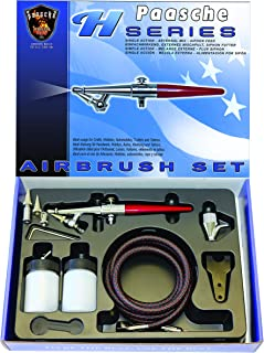 Paasche Airbrush H-Set Single Action Siphon Feed Airbrush Set , Red