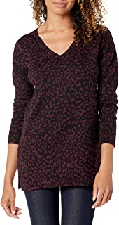 Amazon Essentials Women's Standard V-Neck Tunic Sweater