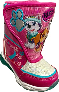 Toddler, Little Kid Josmo Paw Patrol Girls Snow Boots with Easy Straps Closure