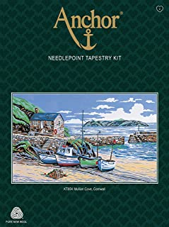 Anchor KT85K Tapestry-Mullion Cove Cornwall, Multi, 80 x 80cm