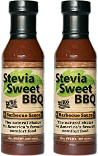 Stevia Sweet BBQ Sauce | Low Sugar (1g), Low Carb, Low Sodium, Gluten & Fat Free | Paleo & Keto Diet Friendly Barbecue Sauce | Zero Artificial Sweeteners (2 x 15 oz)