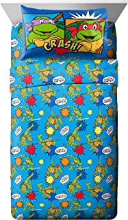 Nickelodeon Teenage Mutant Ninja Turtles Heroes Blue 3 Piece Twin Sheet Set (Official Nickelodeon Product)