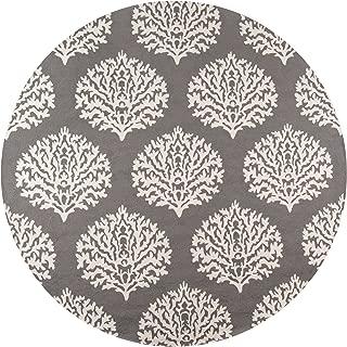 Momeni Rugs Veranda Collection Round Contemporary Indoor & Outdoor Area Rug, 9', Grey