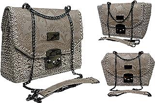 Taupe piccola borsa/Fashionista borsa a tracolla/neutro accessorio/ufficio borsa per donna d'Affari/Borsa con un modello d...