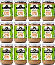 Once Again Organic, Crunchy Peanut Butter - Salt Free, Unsweetened - 16 oz Jar - Case of 12