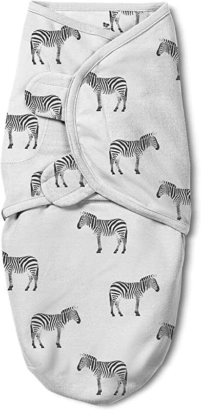 SwaddleMe Original Swaddle Luxe Edition With Easy Change Zipper 1 PK Zebra SM