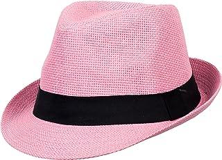 25d5e74da29 DRY77 Mens Womens Straw Summer Short Brim Fedora Hat Trilby Beach Gangster  Hot
