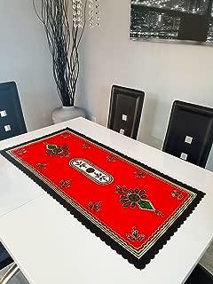 Polish Highlander Parzenica Design Table Runner, Red
