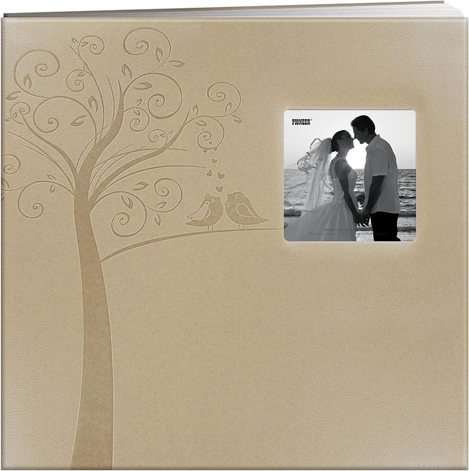 Pioneer Photo Albums MB-10EW New Shipping Free Embossed Easy-to-use Fram Leatherette Postbound