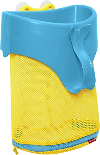 Skip Hop Moby Scoop and Splash Bath Toy Organizer, Yellow and blue product image
