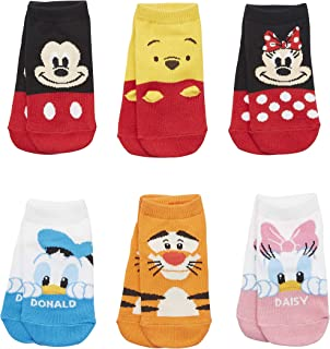 Ladies//Girls Beige /& Red Disney Minnie Mouse Christmas Themed Cotton Ankle Socks