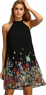Floerns Women's Summer Chiffon Sleeveless Party Dress