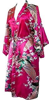 CCcollections Kimono Robe Long 16 Colours Premium Peacock Bridesmaid Bridal Shower Womens Gift