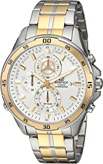 Men's Edifice Quartz Watch with Stainless-Steel Strap, Two Tone, 21.66 (Model: EFR547SG-7A9V)