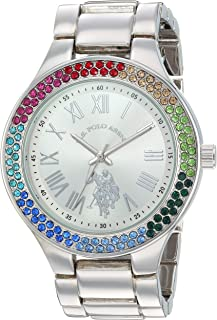 Women's Quartz Watch with Alloy Strap, Silver, 21.5...