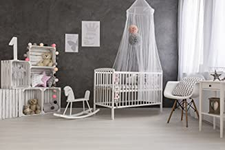 Mosquito Guard Baby Crib Netting - (Free Stroller Netting Included) Compatible with Baby/Toddler Cribs, Beds, Bassinets, Playpens, Cradles (White)