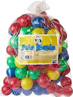 Mania com 100 Bolas Saco Plástico Brinquedos Pica Pau