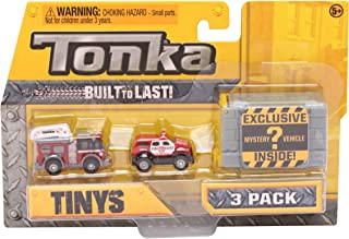 Tonka Tinys Rescue 3 Pack With Exclusive Mystery ? Vehicle Inside
