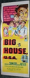 BIG HOUSE U.S.A. original 1955 14x36 insert movie poster RALPH MEEKER/LON CHANEY JR./CHARLES BRONSON