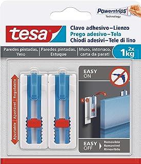 Tesa - Clavo adhesivo para colgar lienzos y marcos para bast