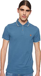 Timberland Men's Ss Millers Rvr Pique Tipped Slim Polo