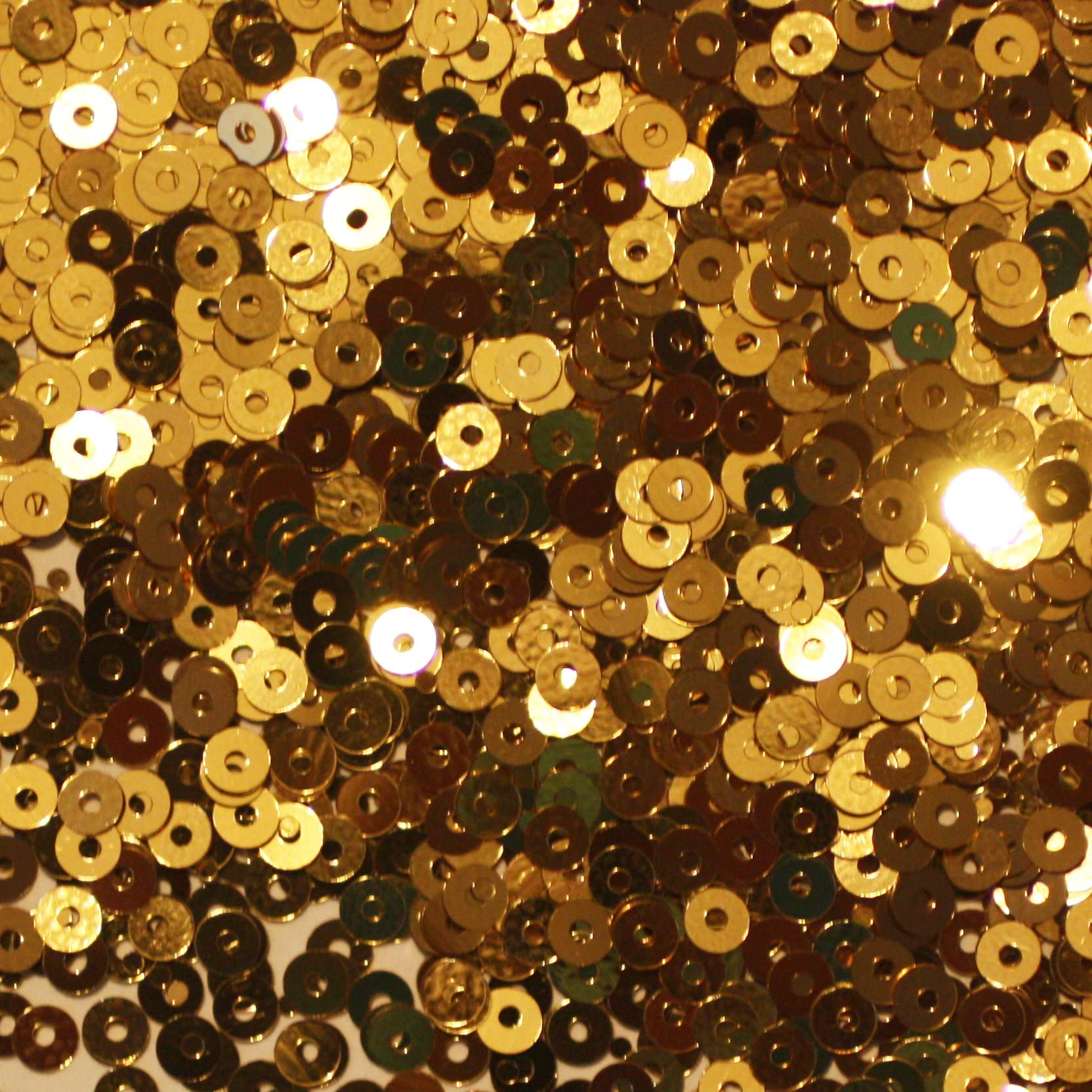 Fantasy sequins Yellow Gold Bikewheels Style Sequins 3mm 4 mm Pailettes Made in France sequins by Langlois-Martin
