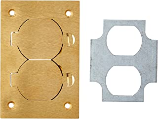 Thomas & Betts P-64-DS Steel City Duplex MopTite Cover Plate with 1-7/16