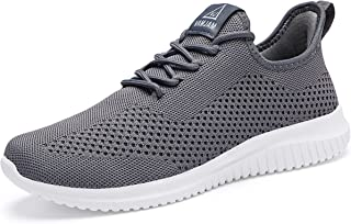 Men's Running Shoes Ultra Lightweight Breathable Walking Shoes Non Slip Athletic Fashion Sneakers Mesh Workout Casual Sports Shoes
