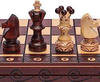 Husaria European International Chess Wooden Game Set - Ambassador - 21.7 Inches