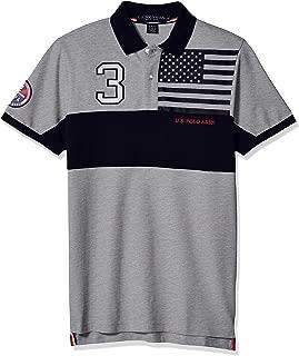 Men's Slim Fit Color Blocked Pique Polo Shirt