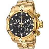 Invicta Men's Venom Quartz Watch with Stainless-Steel Strap, Gold, 26 (Model: 25904)