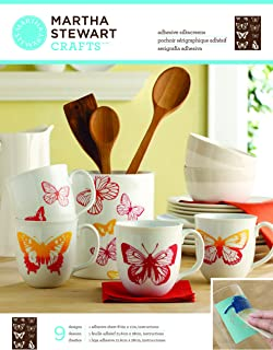 Martha Stewart Crafts Glass Silkscreen (8.5 by 11-Inch), 33241 Butterflies
