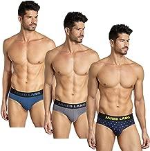 Jared Lang Men's Underwear Stretch Hip Briefs Comfort Fit (3 Pack)