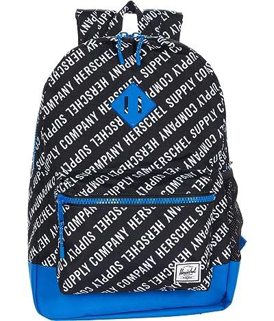 Herschel Supply Co. Kids Heritage XL Backpack (Little Kids/Big Kids) (Roll Call Black/White/Lapis Blue) Backpack Bags
