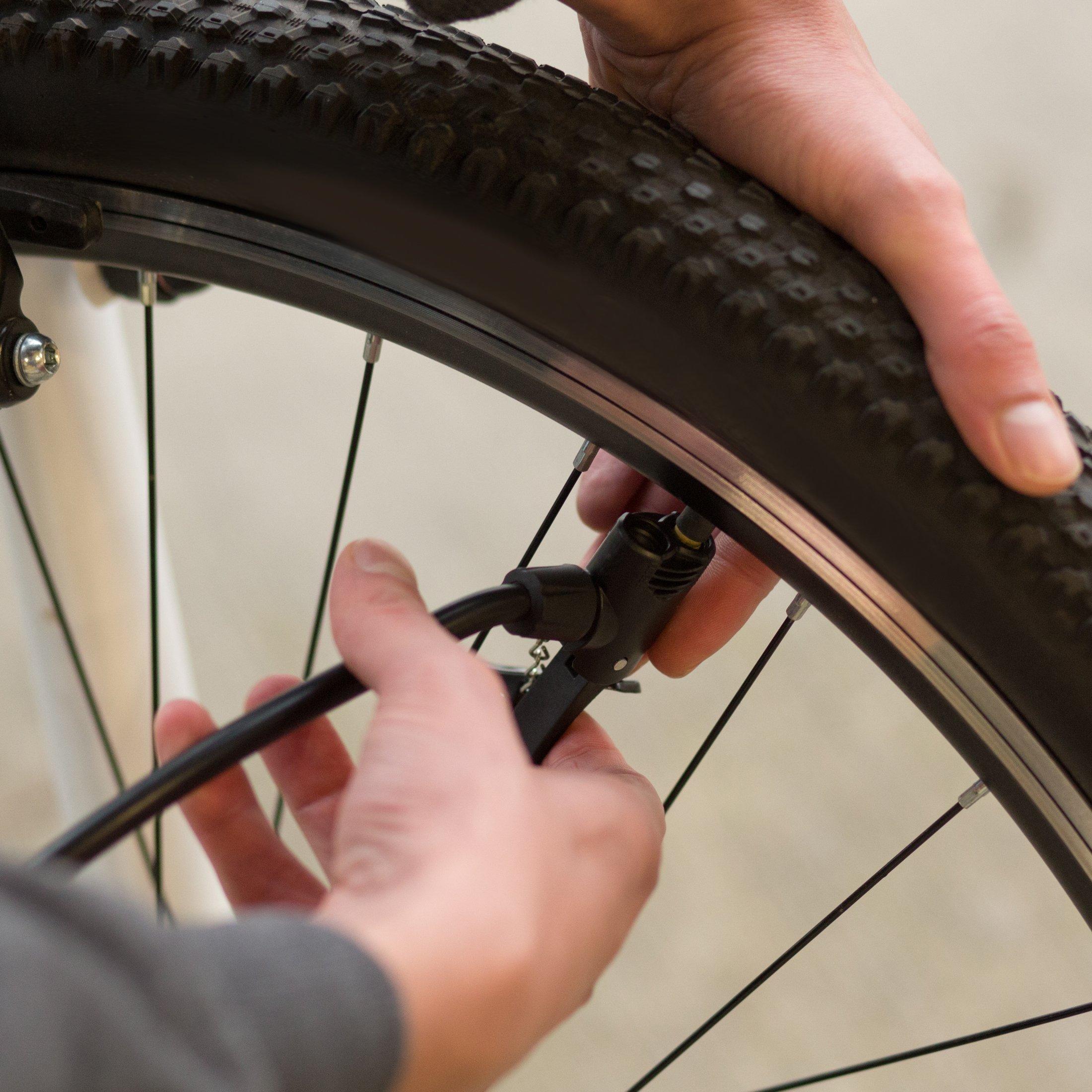 Ultrasport Bomba de aire para bicicleta y automóvil, con manómetro ...