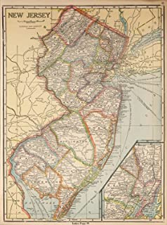 Map Poster - New Jersey - 24