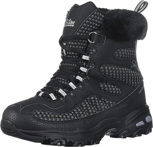 Skechers Wohommes D'Lites D'Lites Plaza W Snow démarrage,noir,5.5 W US