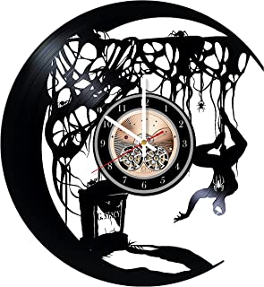 Wood Workshop Spiderman Vinyl Record Wall Clock - Get Unique Bedroom or Living Room Wall Decor - Gift Ideas for him and her