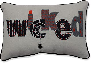 Pillow Perfect Indoor Wicked Black Throw Pillow, 18.5 X 11.5 X 5