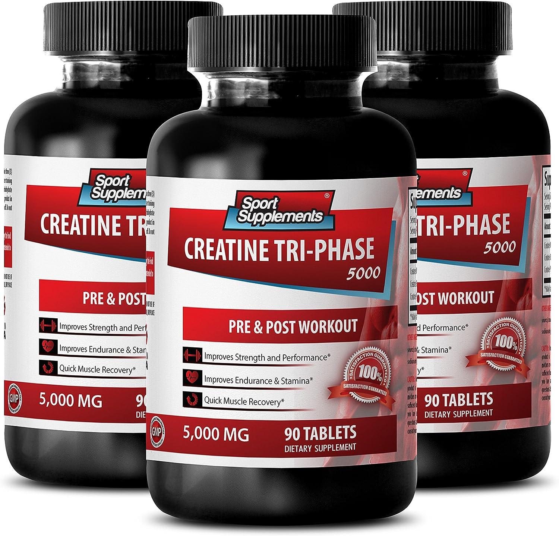 Creatine - Tri Phase 5000 Mg Stamina Bott Increase 3 Max 40% OFF Year-end gift