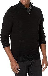 CHAPS Mens Classic Fit Textured Quarter Zip Sweater