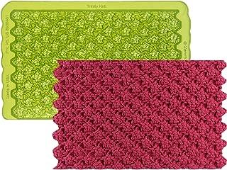 Marvelous Molds Trinity Knit Simpress Silicone Mold | Cake Decorating | Fondant Gum Paste Icing