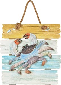 "Department 56 Gone to The Beach Crab, 1.18"" Wall Decor, Multicolor"