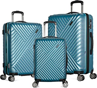 Olympia Matrix 3-Piece Pc Exp. Hardcase Spinner Set W/Hidden Compartment, TEAL