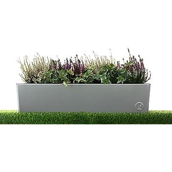 Kreiselmeyer Design Design Blumenkasten Blumenkubel Pflanzgefass Aus Edelstahl Einseitig Geburstet 100 Rostfrei Amazon De Garten