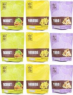 FRUITIVAL バナナ ココナッツ タロイモ チップス 9袋セット(各3袋) グルテンフリー タイ産