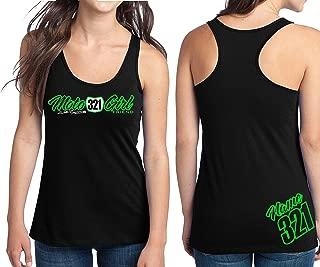 Moto Girlfriend Motocross Racerback Tank Top Number Plate Custom Personalized Shirt