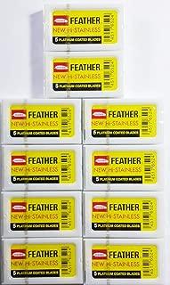 50 Feather Razor Blades NEW Hi-stainless Double Edge